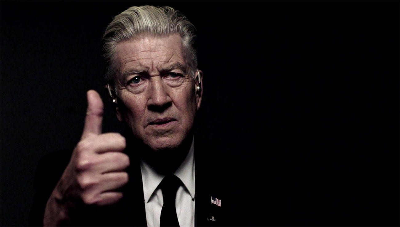 """We're tempted to storm the Emmy offices screaming """"Got a light?"""" if they fail to acknowledge David Lynch for 'Twin Peaks: The Return'."""