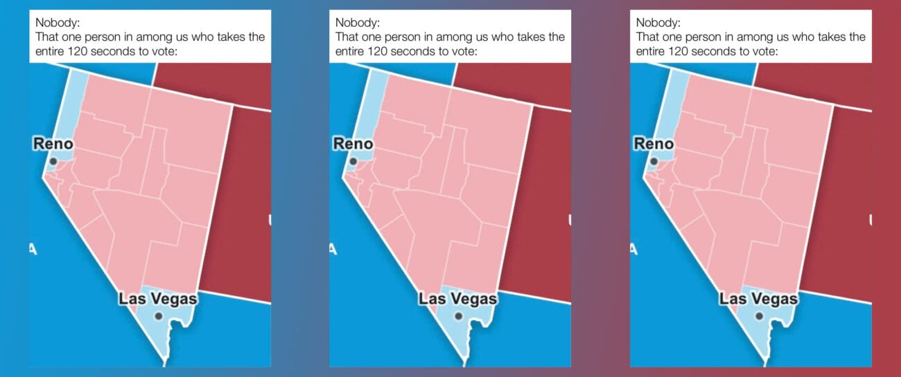 As the election news barreled along, all eyes were on Nevada, for some reason. Check out the funniest Nevada memes from the 2020 election.