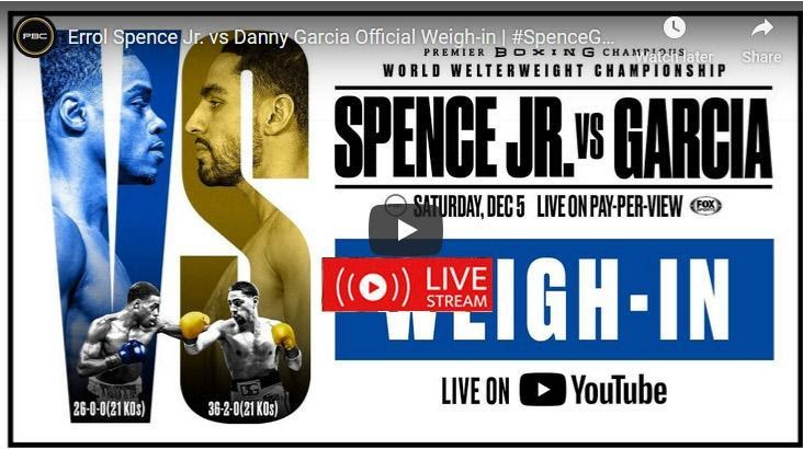 Check out these live streams for the Spence vs Garcia boxing fight on Fox PPV tonight.